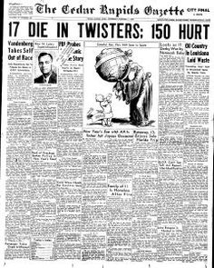 Search Cedar Rapids Gazette newspaper archives with birth, death, marriage and divorce records from Cedar Rapids, Iowa on January p. Newspaper Archives, Primary Resources, Cedar Rapids, Genealogy, Iowa, It Hurts, The Past, Public, Dating