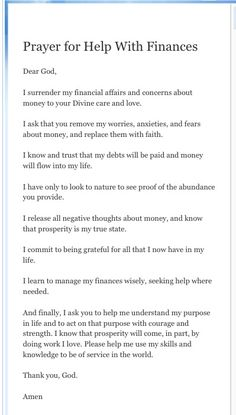 #Prayer for help with #finances Empowering You To Attain Personal Financial Success Today! http://quinkinsey.myecon.net