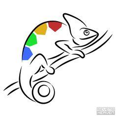 Chameleon logo design, by http://sevensheaven.nl