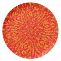 6 Petal Abstract Orange Crush Plate #zazzle #plate #abstract #orange #petals http://www.zazzle.com/serenitygardens?rf=238170457442240176