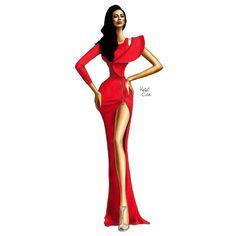How to Draw a Fashionable Dress - Drawing On Demand Fashion Drawing Dresses, Fashion Illustration Dresses, Fashion Dresses, Fashion Illustrations, Art Illustrations, Fashion Design Drawings, Fashion Sketches, Fashion Art, Fashion Models
