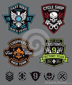 Biker badge logos & elements