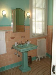 Colorful Vintage Bathrooms The Comer House In Gallatin - 1950's style bathroom vanity