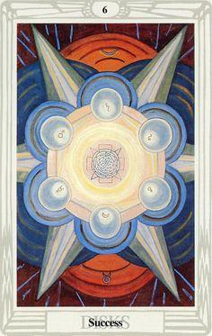 6 d'écus (Success) - Tarot Thoth par Aleister Crowley