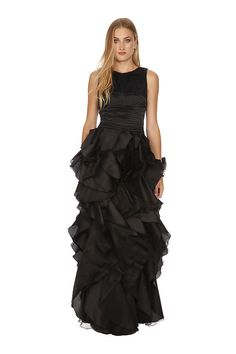 ba6679b454a For a Black Magic take on a Black Tie event try the Cannes gown by Halston