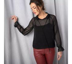 Blúzka so stojačikom Blouse, Long Sleeve, Sleeves, Women, Fashion, Moda, Long Dress Patterns, Fashion Styles, Blouses