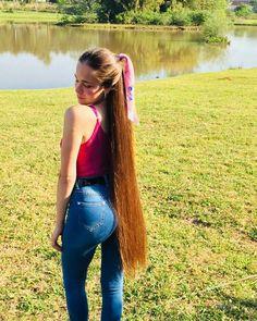 Medium Long Hair, Long Brown Hair, Super Long Hair, Cut My Hair, Your Hair, Gypsy Hair, Beautiful Long Hair, Beautiful Women, Ponytail Updo