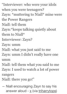 Zayn talking is the best thing. Keep it up, Niall.