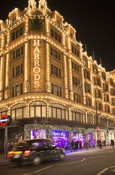 Another must-do for me is to definitely shop at Harrods! There's only one in the whole world so, you can't really get much more exclusive than that. It's also beautifully lit up at night.
