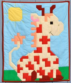 Giraffe baby quilt pattern (3 Sizes) - PDF