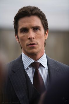 Christian Bale as Bruce Wayne in The Dark Knight. Description from…