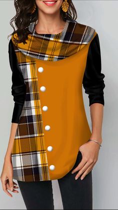 Stylish Tops For Girls, Trendy Tops, Trendy Fashion Tops, Trendy Tops For Women Page 2 Mode Outfits, Casual Outfits, Fashion Outfits, Fashion Weeks, Plus Size T Shirts, Plus Size Tops, Blouse Jaune, Trendy Tops For Women, Stylish Tops