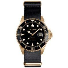 """Reloj Oxygen Dorado Colección Diver """"Gold Mine"""" Negro tamaño de caja 40mm, caja de acero inoxidable con acabado oro rosa. http://www.tutunca.es/reloj-oxygen-dorado-diver-gold-mine-negro-40"""