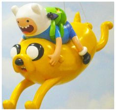 MACY'S THANKGIVING DAY PARADE 2013.  FINN & JAKE make their first appearance in the parade as a balloon.