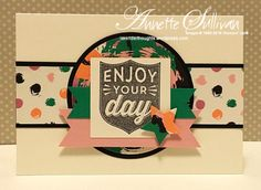 Lavender Thoughts | Annette Sullivan | Stampin' Up! Badges & Banners Blushing Envy