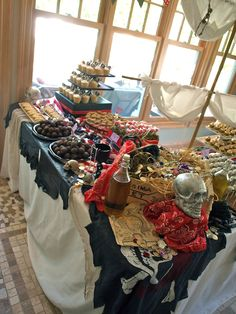 As I've mentioned, I made the dessert table for a large Halloween party this past weekend. Pirate Day, Pirate Birthday, Pirate Theme, Boy Birthday Parties, 4th Birthday, Birthday Ideas, Kid Parties, Themed Parties, Goonies Party
