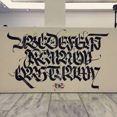 Image result for spraypaint blackletter letters