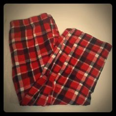 Red Plaid PJ Pants Worn | Still Practically New | Red , White , Black , & Silver Plaid | Black Silk Drawstring | Small Wear On Bottoms | Really Comfy | 99% Cotton | Trades | Feel Free To Ask Questions | More  Upon Request | Check Out Daily Deal For Price Reduction | Sonoma Intimates & Sleepwear Pajamas