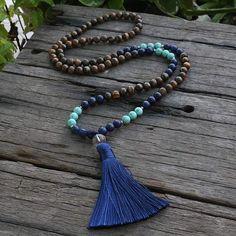 925 Silver Necklace Lapis Lazuli /& Platinum Plt Elephant Pendant Reiki Crystal