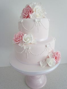 Emily Jane Cakes - Gallery - Delicious cakes, cookies & cupcakes for all occasions Fancy Wedding Cakes, Fondant Wedding Cakes, Wedding Cakes With Cupcakes, Wedding Cakes With Flowers, Beautiful Wedding Cakes, Wedding Cake Designs, Fancy Cakes, Fondant Cakes, Mini Cakes