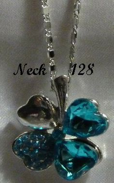 Necklace Gorgeous Teal Clover #Neck128