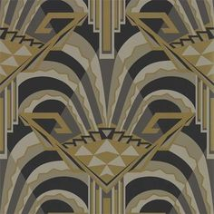 Conway by Zoffany - Antique Bronze - Wallpaper : Wallpaper Direct Print Wallpaper, Fabric Wallpaper, Wallpaper Roll, Wallpaper Wallpapers, Art Deco Bar, Art Deco Design, Zoffany Wallpaper, Bronze Wallpaper, Trending Art
