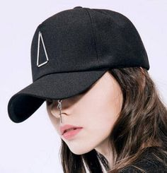 906b7702da392 Unique metal ring baseball cap for teenage girls hip hop style uv  protection caps