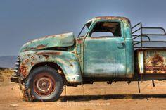 Car wrecks at Solitaire, Namib desert by Bjorn Moerman