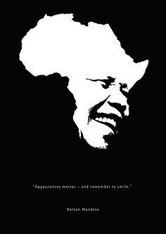 Nelson Mandela Poster by Lavanya Asthana / Unlike Design Co. Africa Tattoos, Mandela Art, Nelson Mandela Quotes, Unique Poster, Africa Art, 3d Prints, Arte Pop, Jolie Photo, African History