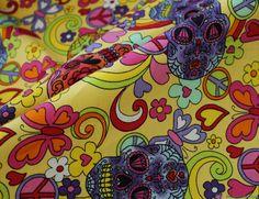 Rose & Hubble Cotton Poplin Fabric - Hippy Heaven / Yellow