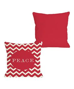 Take a look at this Ivory & Red 'Peace' Zigzag Reversible Throw Pillow by OneBellaCasa on today! Christmas Holidays, Christmas Decorations, Happy Holidays, World Peace Day, Christmas Pillow Covers, Red S, Backrest Pillow, Wonderful Time, Drink Sleeves