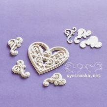 Wycinanka - ORNAMENTY / FILIGRÁNOVÉ SRDCE - kartonové výseky Cardmaking, Heart Ring, Enamel, Brooch, Scrapbook, Rings, Projects, Accessories, Jewelry
