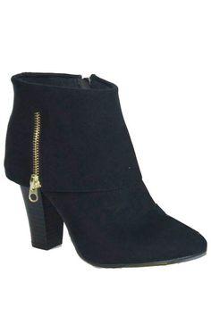 6dd0fda5c Love these!!! Madge Fold Over Ankle Booties - Black $37.00 Botins Até Ao