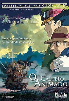 Animê: O Castelo Animado - Eu gostei muito da história, ri muito com a Bruxa doida da Terra Abandonada e o foguinho Calcifer. #anime #ocasteloanimado #studioGhibli