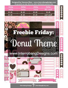 Freebie Friday: Donut Theme