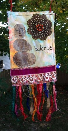 Rock Being Prayer flag - Balance