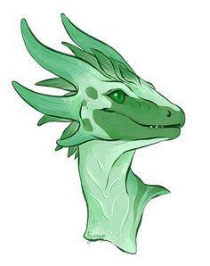 """Draw Creatures springnettle: """"Portrait of Froth """" - Cool Mythical Creatures, Magical Creatures, Fantasy Creatures, Wings Of Fire Dragons, Cool Dragons, Creature Concept Art, Creature Design, Creature Drawings, Animal Drawings"""