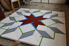 How to Make a Barn Quilt, Part 3 #barnquilt #dutchrose