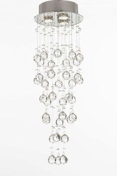 HauteLook | Gallery Chandeliers: Modern Crystal Raindrop Chandelier Light Fixture