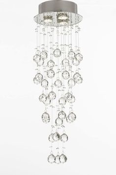 Modern Crystal Raindrop Chandelier Light Fixture
