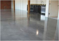I want a large garage with polished concrete floors.