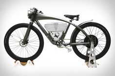 The Icon E-Flyer Electric Bike ($5,000) includes a motor with a 35 mile range, regenerative braking, and a top speed of up to 36 miles per hour. The frame is made from hydroformed aluminum, while the forks are made from billet aluminum and steel. Artful touches like handmade leather, a mountain gray powder coat finish, brushed stainless, nickel, and brass details help it stand out from other available powered bikes.