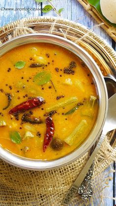 Sambar or Sambhar is an integral part of the South Indian cuisine. It is a lentil based stew with the addition of various vegetables or sometimes just one vegetable is added. It is a perfect accompaniment to idli's ( Soup Recipes, Vegetarian Recipes, Cooking Recipes, Paneer Recipes, Curry Recipes, Family Recipes, Chicken Recipes, Dessert Recipes, Healthy Recipes