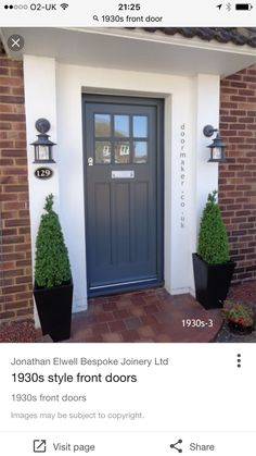 New Ideas for contemporary front door design ideas Cottage Front Doors, Victorian Front Doors, Front Door Porch, Front Door Entrance, House Front Door, Front Entrances, House Entrance, Entry Doors, Front Door Planters