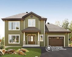 INVITING 2 STOREY AFFORDABLE CRAFTSMAN HOME 3 bedrooms, large kitchen island, open floor plan, affordable http://www.drummondhouseplans.com/house-plan-detail/info/marlowe-2-craftman-northwest-1003004.html