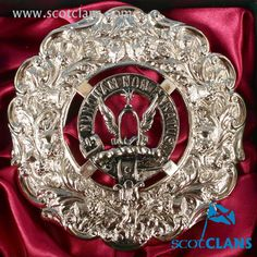 Johnstone Clan Crest Plaid Brooch. Free worldwide shipping available.