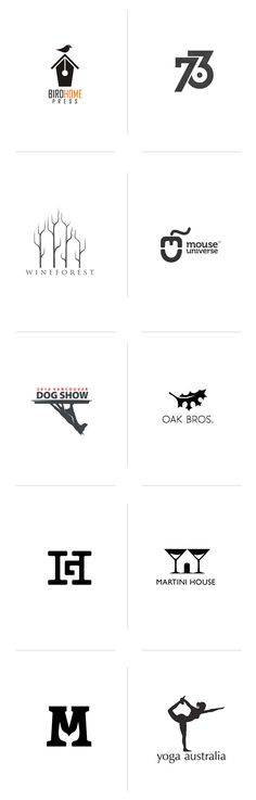 Negative space logos we love | http://www.slickfish.com/logo-design/logos-use-negative-space