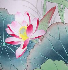 chinese lotus flowers | chinese-lotus-flower-painting-LF4109detail.jpg