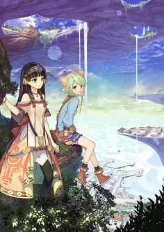 View an image titled 'Box Art' in our Atelier Shallie Plus: Alchemists of the Dusk Sea art gallery featuring official character designs, concept art, and promo pictures. Atelier Series, Sea Art, Anime Artwork, Game Art, Illustrators, Fantasy Art, Concept Art, Art Drawings, Art Gallery