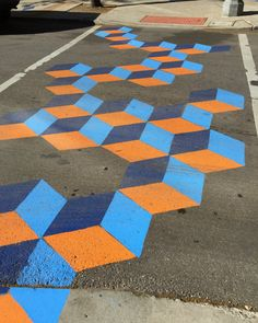 Detroit, US  A decorative crosswalk created during CNU 24, The 24th annual Congress for the New Urbanism  Photograph: Mark Miller